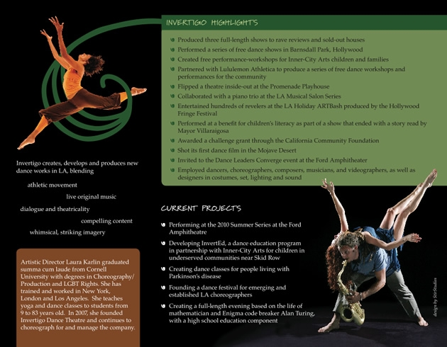StirStudios Print Portfolio | Invertigo Dance Theatre