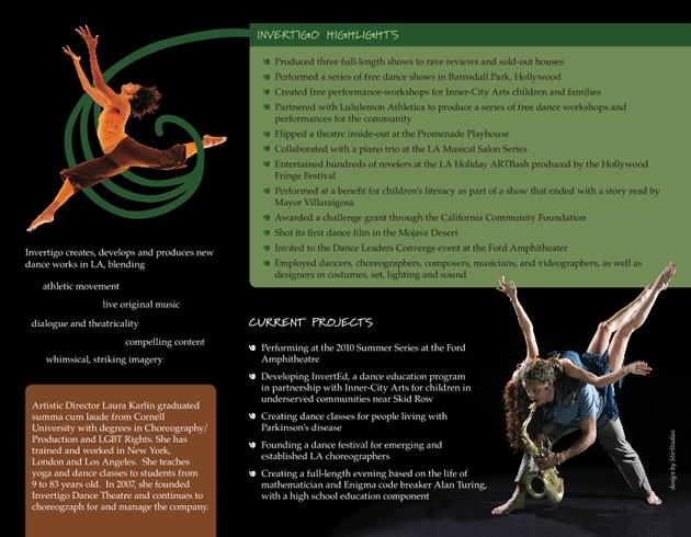 StirStudios Print Portfolio | Invertigo Dance Theatre
