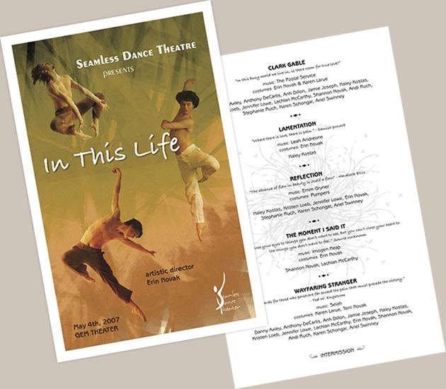 StirStudios Print Portfolio | Seamless Dance Theater