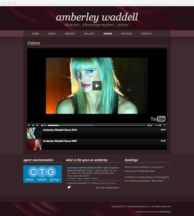 StirStudios Web Portfolio | Amberley Waddell