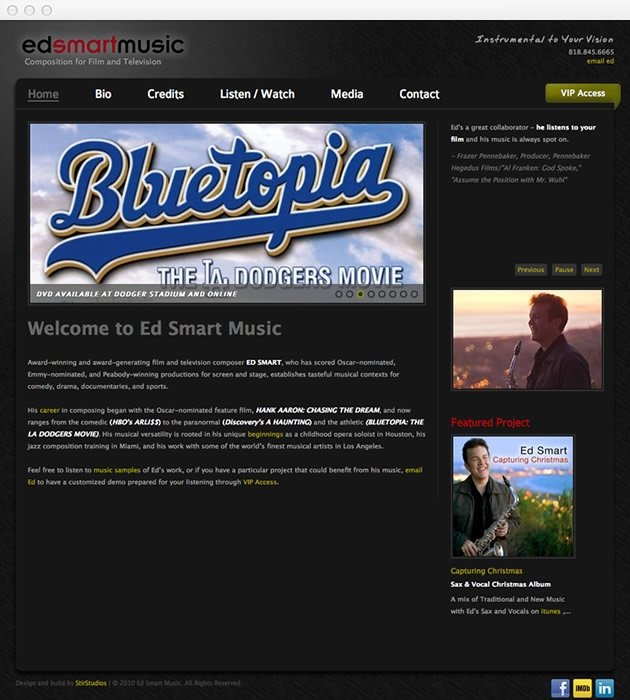 StirStudios Web Portfolio | Ed Smart Music