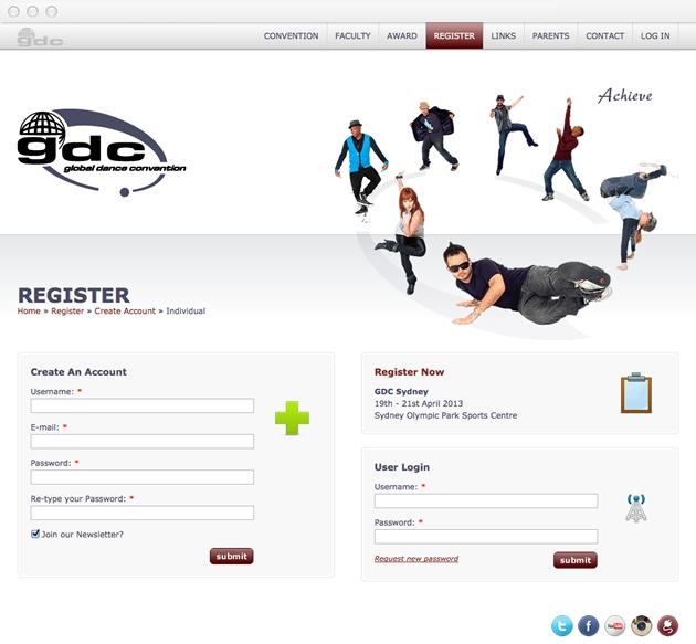 StirStudios Web Portfolio | Global Dance Convention