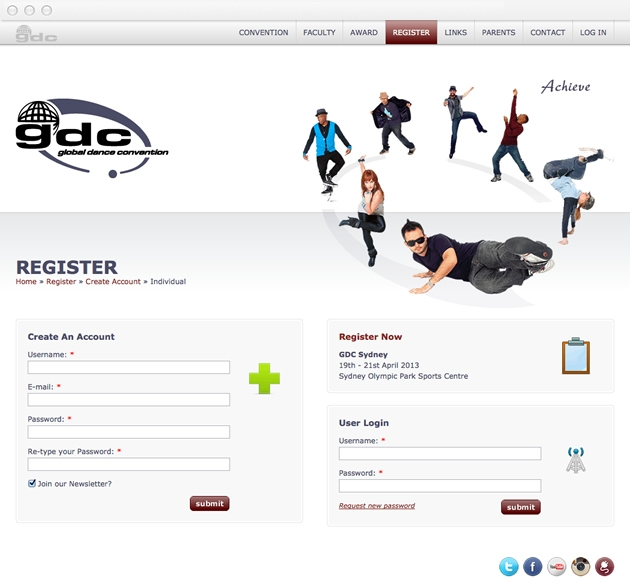 StirStudios Web Portfolio | Global Dance Convention
