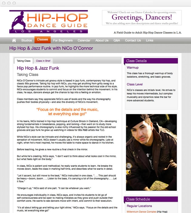 StirStudios Web Portfolio | Hip-Hop Dance Guide