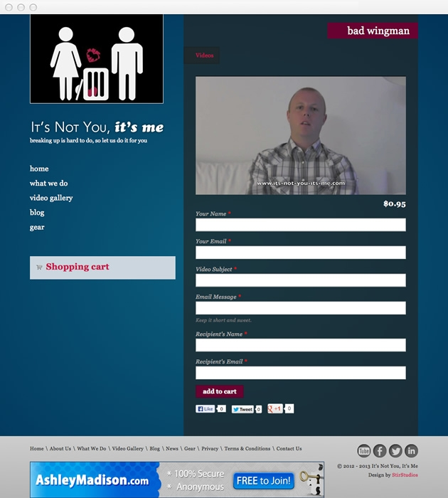 StirStudios Web Portfolio | It's Not You, It's Me