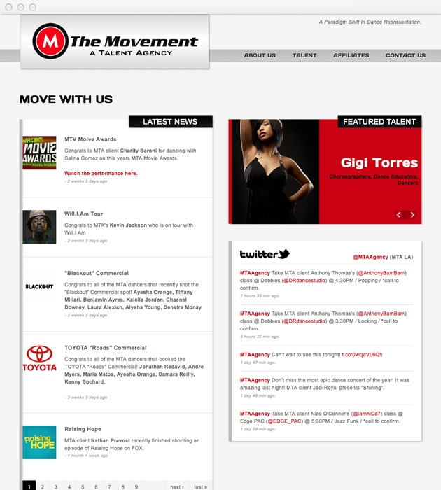 StirStudios Web Portfolio | The Movement Talent Agency