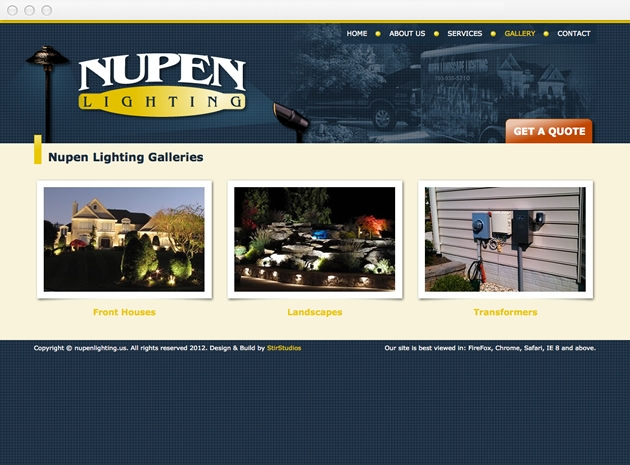 StirStudios Web Portfolio | Nupen Lighting