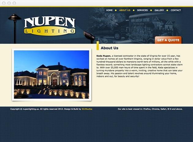 StirStudios Web Portfolio | Nupen Lighting