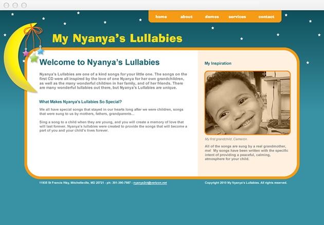 StirStudios Web Portfolio | My Nyanya's Lullabies