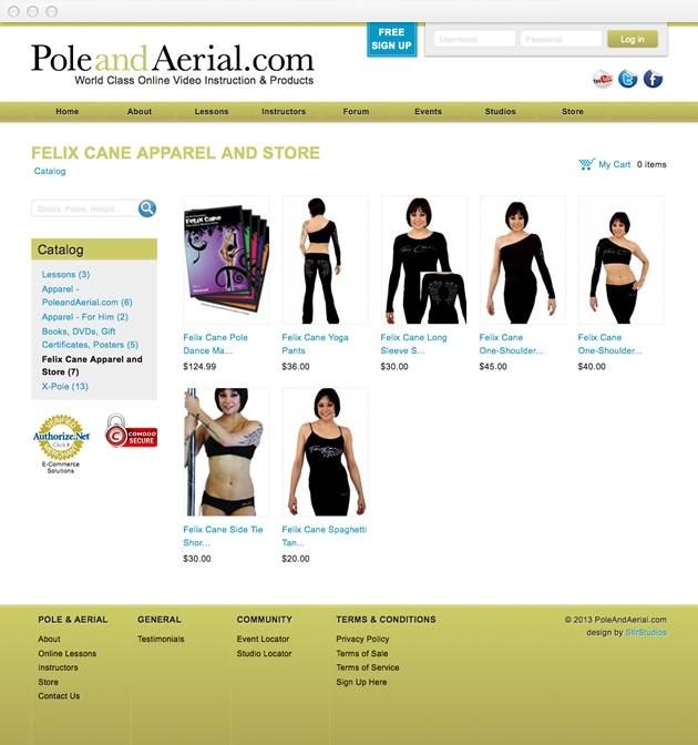 StirStudios Web Portfolio | PoleAndAerial.com