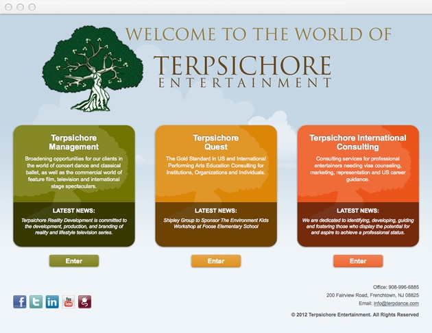 StirStudios Web Portfolio | Terpsichore Entertainment